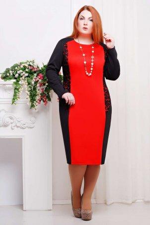 Tatiana: Платье прямое ТЕРА красное - главное фото