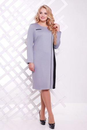 Tatiana: Платье с вертикальной вставкой ДЖЕННИ серое - главное фото