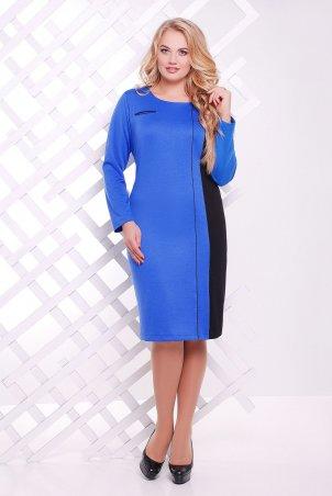 Tatiana: Платье с вертикальной вставкой ДЖЕННИ электрик - главное фото