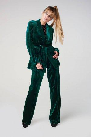Marterina. Жакет из бархата зеленый. Артикул: K08J06BV31