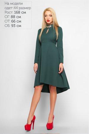 LiPar. Платье–маллет Марлен. Артикул: 3164 зеленый