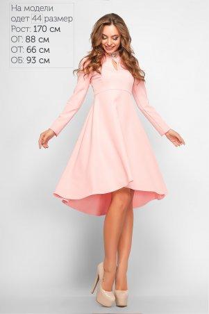 LiPar. Платье–маллет Марлен. Артикул: 3164 пудра