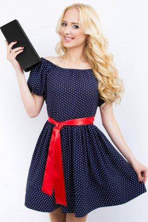 LiPar: Легкое платье из штапеля 618 горошек на синем - главное фото