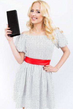 LiPar: Легкое платье из штапеля 618 горошек на белом - главное фото