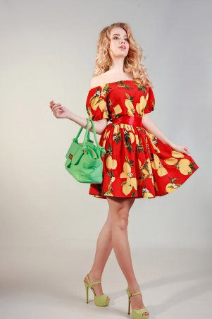 LiPar: Легкое платье из штапеля 618 красный - главное фото