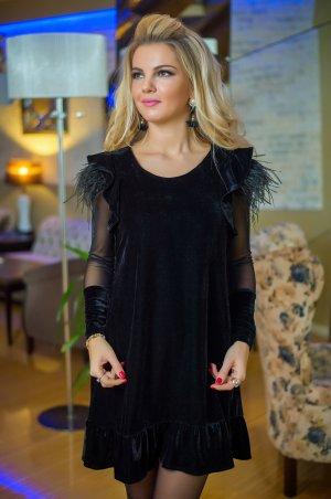 Bisou. Платье велюровое с перьями. Артикул: 7732