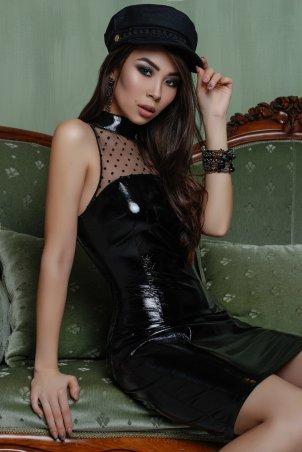 A-Dress: Экстравагантное черное лаковое платье 70810 - главное фото