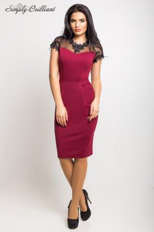 Simply brilliant: Платье Селена02_бордовый - главное фото