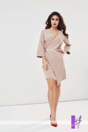 New Style. Платье на запах. Артикул: 1193_бежевый