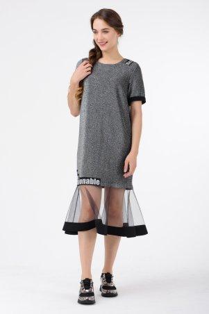 RicaMare. Нарядное платье в спортивном стиле. Артикул: RM1821-17VC