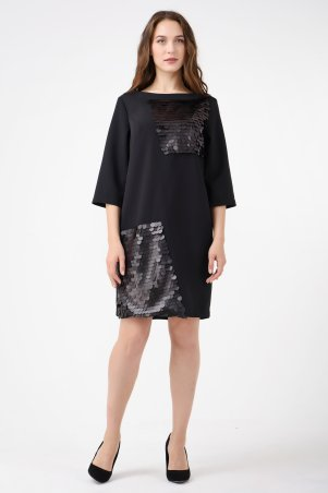 RicaMare. Платье с пайетками, большие размеры. Артикул: RM1793-B-17VC
