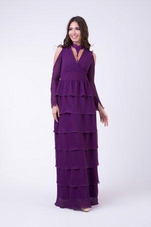 RicaMare. Вечернее платье с многоярусной юбкой в пол. Артикул: RM1151-17VP