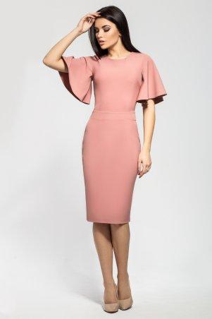 A-Dress. Шикарное приталенное платье нежного цвета пудра. Артикул: 71014