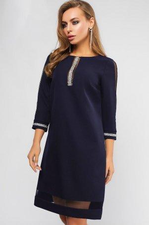 LiPar: Платье Ингрид Синее Батал 3099 синий - главное фото