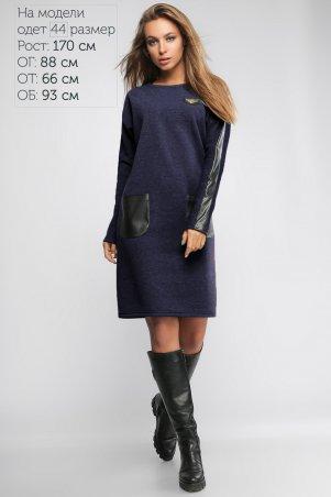 LiPar: Платье женское из трехнитки Джинс 3006 джинс - главное фото