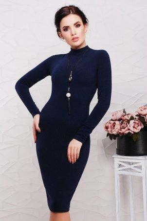 """TessDress: Облегающее платье с горлом """"Сусанна"""" Navy 1327 - главное фото"""