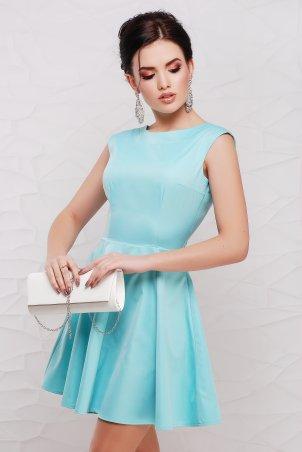 """TessDress: Платье с V-вырезом и бантом на спине """"Шарлота"""" Blue 1306 - главное фото"""