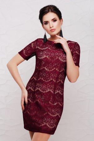 "TessDress: Гипюровое платье ""Lexi"" Bordo 1084 - главное фото"