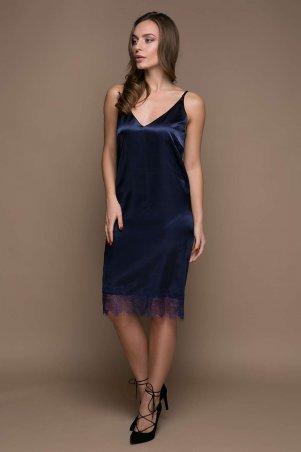 Zefir: Платье в бельевом стиле ALISA темно-синее - главное фото