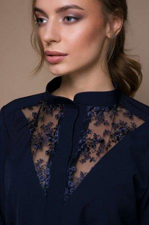 Zefir: Платье с кружевной отделкой VERA темно-синее - главное фото