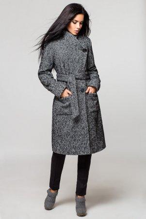 e8fa9b70ae9 Пальто женское Варшава зима PV 873 цвета серый от