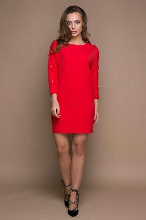Zefir: Прямое платье с заниженной проймой ZARA красное - главное фото