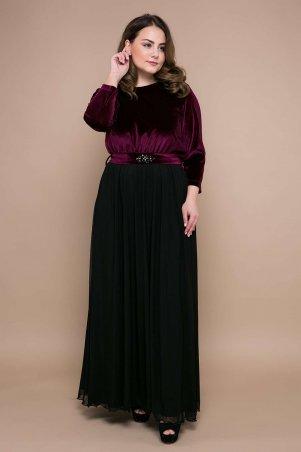 Tatiana: Вечернее платье из бархата АНАБЕЛЬ бордо - главное фото