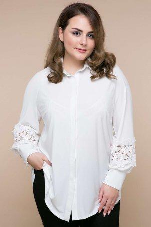 Tatiana. Блуза с кружевом на рукавах. Артикул: ЛЮКС бежевая