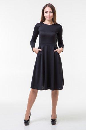 WearMe. Платье клёш черного цвета с длинным рукавом. Артикул: 101