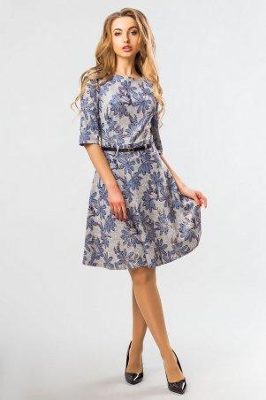 Garda. Платье С Синими Цветами. Артикул: 300306