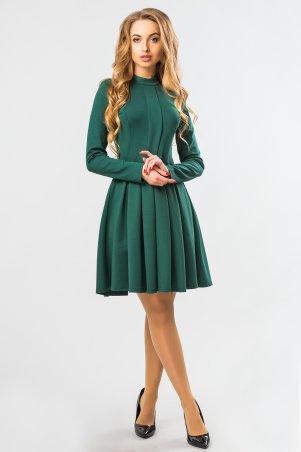 Garda. Зеленое Платье Со Складкой И Стойкой. Артикул: 300304