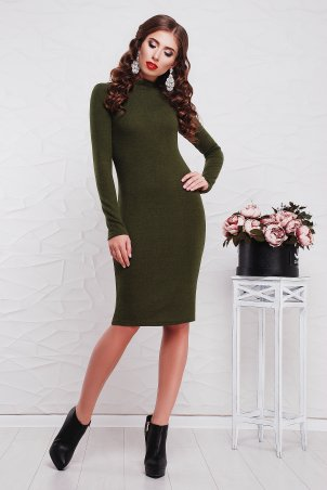 "TessDress. Облегающее платье с горлом ""Сусанна""  Khaki. Артикул: 1127"
