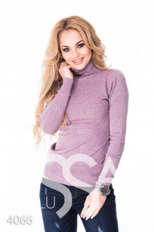 ISSA PLUS. Фиолетовый зимний гольф с высоким горлом. Артикул: 4066_фиолетовый