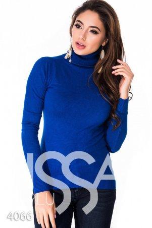 ISSA PLUS. Ярко-синий зимний гольф с высоким горлом. Артикул: 4066_электрик