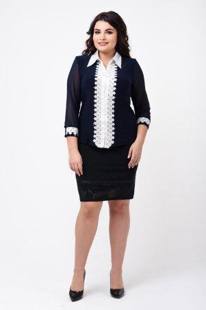 Caramella. Рубашка темно-синяя с белым. Артикул: CR-9939
