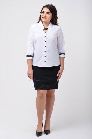 Caramella. Рубашка стрейч-коттон с камнями. Артикул: CR-1675