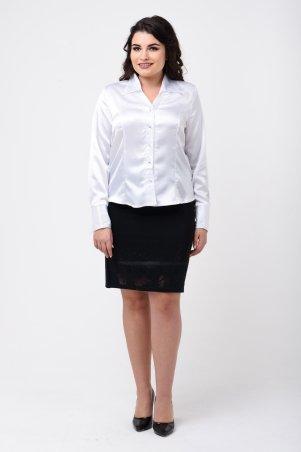 Caramella: Рубашка белая атласная CR-9200 - главное фото
