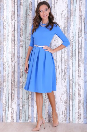 Jet. Платье КЛАРИС креп голубой. Артикул: 1101-5956