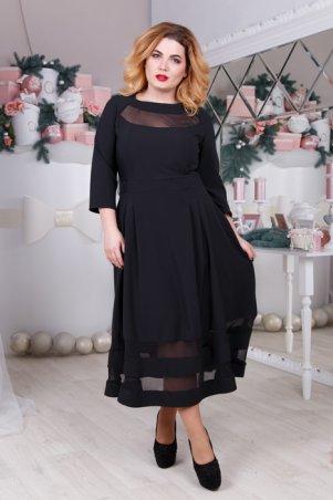 Fognar: Стильное платье со вставками 324 - главное фото