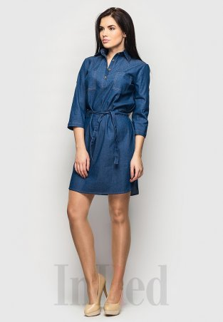 "InRed. Платье-рубашка ""LOVELY"" синее. Артикул: 7316.1"