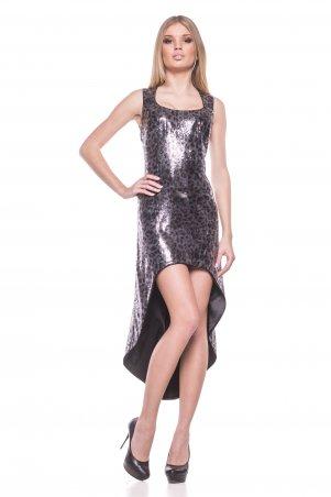 RicaMare: Платье из блестящей пайеточной ткани RM115-13VP-платье - главное фото