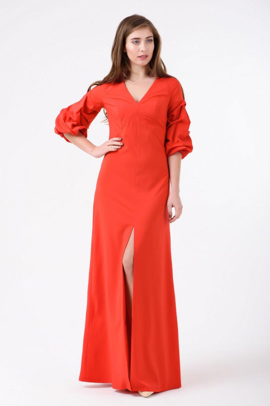 0c2a0ec52f5 RicaMare  Вечернее платье в пол с объемными рукавами RM1855-18VP - фото 1
