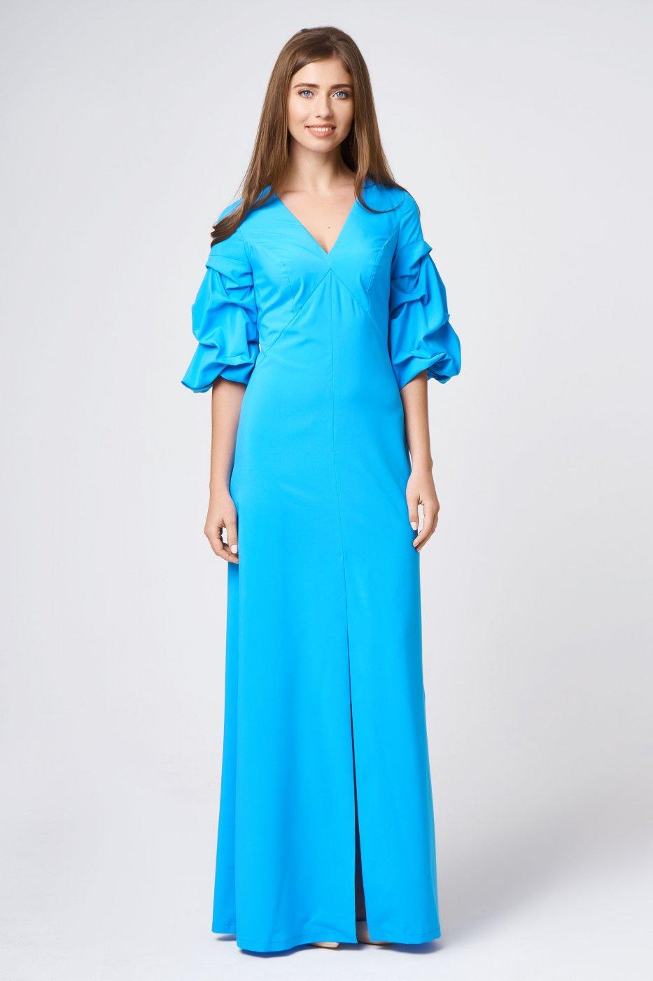 845543c3930 RicaMare  Вечернее платье в пол с объемными рукавами RM1855-18VP - фото 9