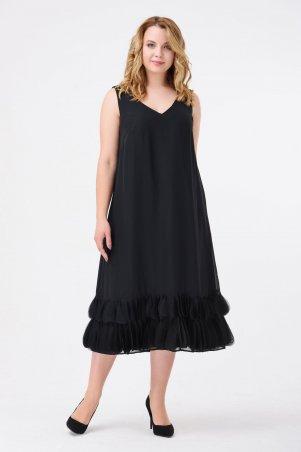 RicaMare: Коктейльное шифоновое платье, большие размеры RM1828-B-17VC - главное фото