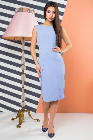 A-Dress. Голубое платье для офиса с оригинальными карманами. Артикул: 70901