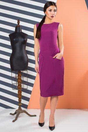 A-Dress. Эффектное офисное платье из крепа цвета фуксии. Артикул: 70900