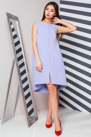 A-Dress. Голубое креповое платье с оригинальным низом и эффектными пуговицами. Артикул: 70882