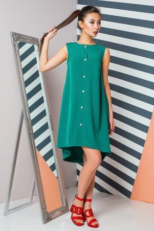 A-Dress. Креповое платье изумрудно-зеленого цвета с асимметричным подолом. Артикул: 70881