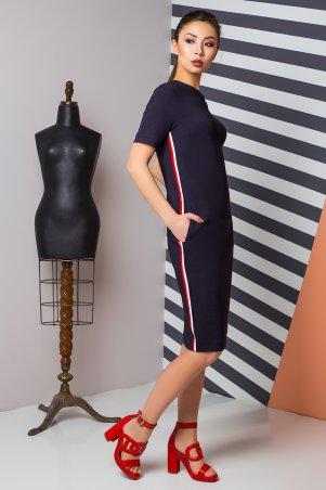 A-Dress. Платье из плотного котона с трехцветным лампасом. Артикул: 70860