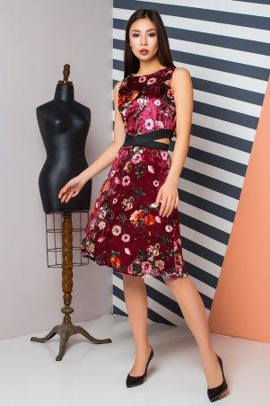 A-Dress. Оригинальное велюровое платье в цветы. Артикул: 70840